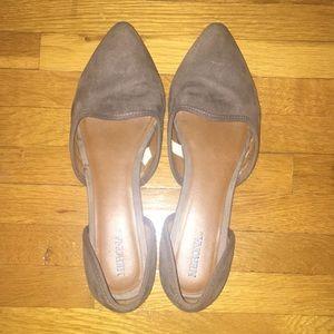 Gray/Taupe Merona Flats